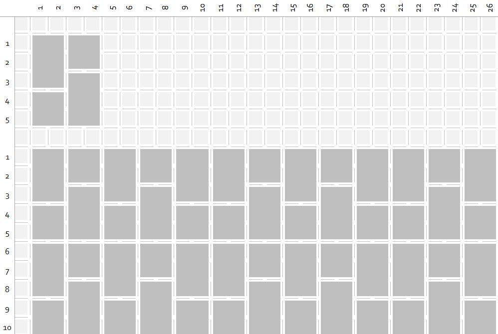 Paving layout pattern